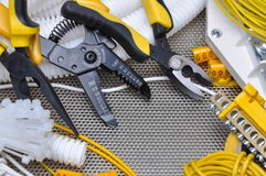 Tools for electrical installation Royalty Free Stock Image