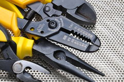 Tools for electrical installation Royalty Free Stock Images