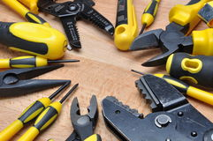 Tools for electrical installation Stock Images