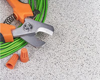 Tools for electrician stock photo