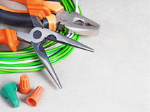 Tools for electrician stock illustration