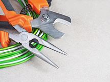 Tools for electrician stock photography