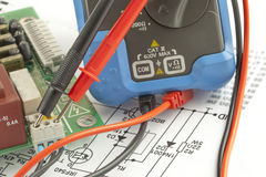 Tools for electricians  and accessories Royalty Free Stock Photography