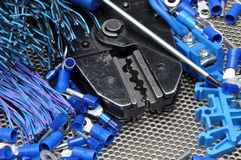 Tools for electricians Stock Photo