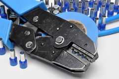 Tools for electricians crimpers and accessories Stock Image