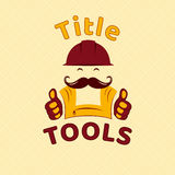 Tools emblem, logo for handyman small business, vector template Royalty Free Stock Image