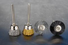 Tools for engraving, cutting and polishing. Accessories for engraving and small workshop work. stock images