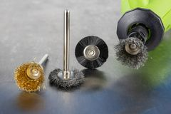 Tools for engraving, cutting and polishing. Accessories for engraving and small workshop work. stock photography