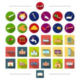 Tools, equipment, architecture and other web icon in cartoon style. Factory, house, residential, icons in set collection. Tools, equipment, architecture and Stock Photography