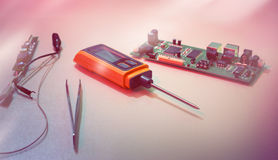 Tools for examining and reparing of faulty electronics Royalty Free Stock Photography