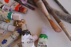 Tools för konstnär för teckning för blyertspennafärgmålning konst Fotografering för Bildbyråer