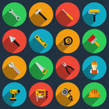 Tools flat icons set Stock Images