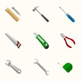 Tools Flat Vector Icons Set Stock Photography