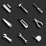 Tools flat vector icons set Stock Photo