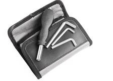 Tools on folded pouch Stock Image