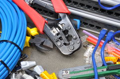 Tools For Crimping With Component Royalty Free Stock Images