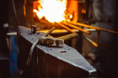Tools in the forge Royalty Free Stock Photos