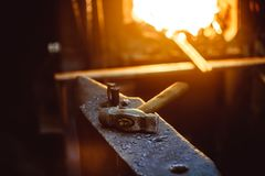 Tools in the forge Royalty Free Stock Image