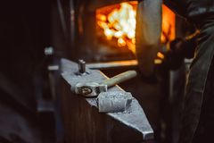 Tools in the forge Stock Photography