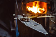 Tools in the forge Stock Image