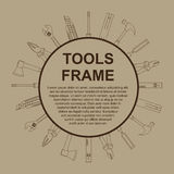 Tools frame. Abstract background with frame with tools icons vector illustration