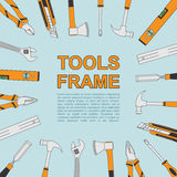 Tools frame royalty free illustration