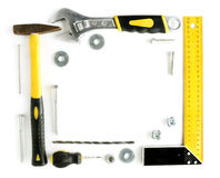 Tools frame with copy space Stock Photos