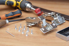 Tools for furniture fittings Royalty Free Stock Photo