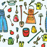 Tools garden seamless pattern funny Stock Image