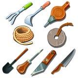 Tools for gardener, carpenter and repairman royalty free illustration