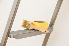 Tools for gluing wallpapers. Renovation Royalty Free Stock Photography
