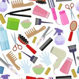 Tools and hair care products Royalty Free Stock Images