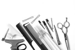 Tools hairdresser`s isolate stock photography