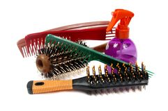 Tools for hairdresser's salon Stock Photos