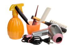 Tools for a hairdressing salon stock photography
