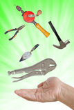 Tools on hand. Stock Images