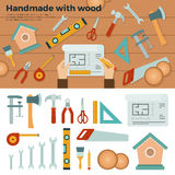 Tools for Handmade with Wood. Hobby Concept Stock Image