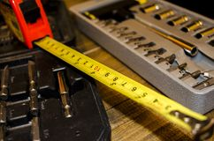 Tools for handy man. Tools for when you need repairs at home Stock Photos