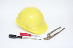 Tools and helmet Royalty Free Stock Photos
