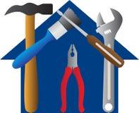 Tools home. A vector drawing represents tools home design Stock Photo