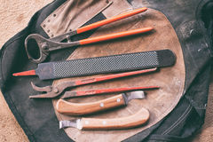 Tools horse shoer Stock Photo