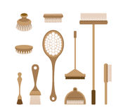 The tools of housecleaning Royalty Free Stock Photos