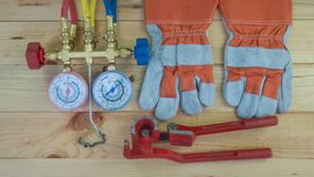 Tools for HVAC stock images