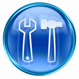 Tools icon blue Royalty Free Stock Image