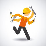 Tools icon. Design, vector illustration eps10 graphic Royalty Free Stock Photography