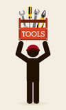 Tools icon. Design, vector illustration eps10 graphic Royalty Free Stock Photos