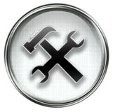 Tools icon grey Stock Photography