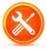 Tools icon natural orange round button vector illustration