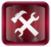 Tools icon red Stock Photography