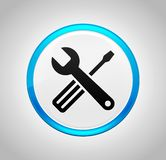 Tools icon round blue push button stock illustration